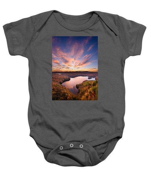 View From The Ledge Baby Onesie