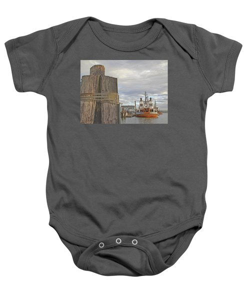 View From The Pilings Baby Onesie