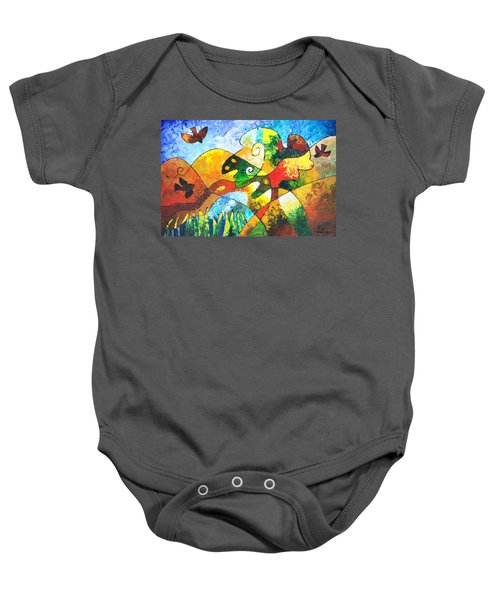 View From Valley Road Baby Onesie