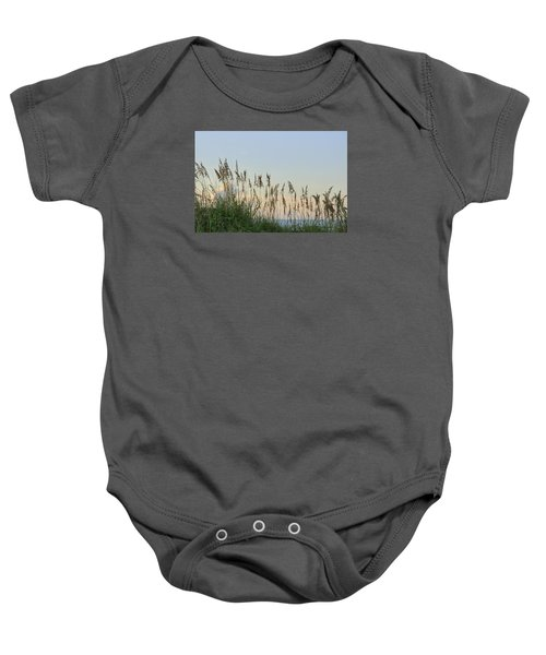 View Through The Sea Oats Baby Onesie