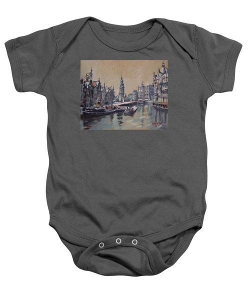 View To The Mint Tower Amsterdam Baby Onesie by Nop Briex