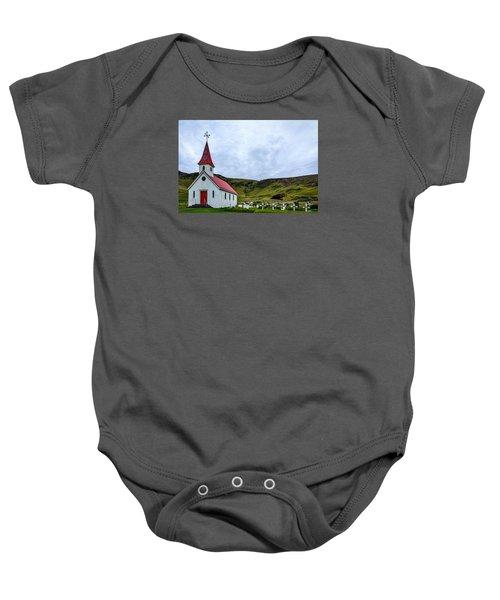 Vik Church And Cemetery - Iceland Baby Onesie