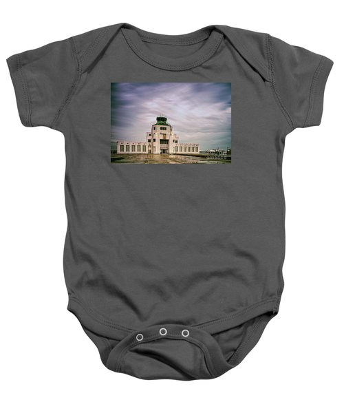Vintage Architectural Photograph Of The 1940 Air Terminual Museum - Hobby Airport Houston Texas Baby Onesie