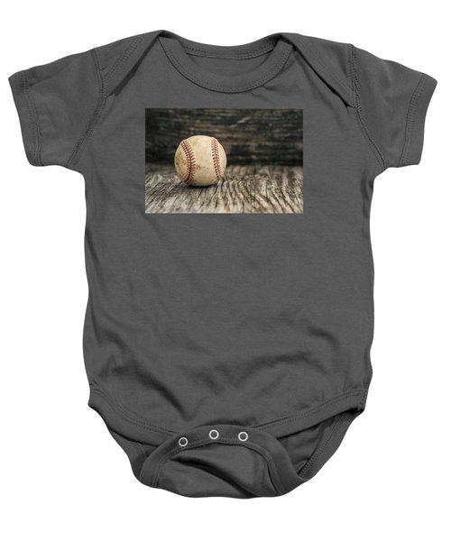 Vintage Baseball Baby Onesie by Terry DeLuco