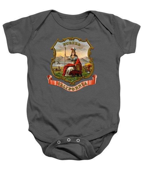 Vintage California Coat Of Arms Baby Onesie