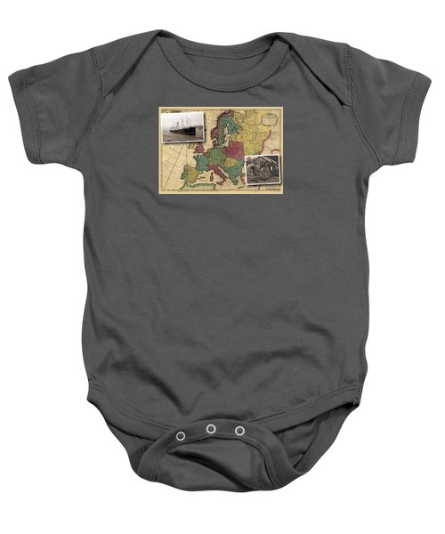 Vintage Map Europe Immigrants Baby Onesie