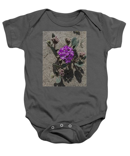 Violets In The Sand Baby Onesie
