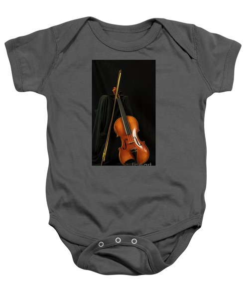 Violin And Bow Baby Onesie