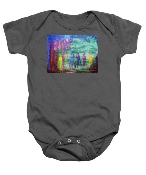 Visions Of Future Beings Baby Onesie