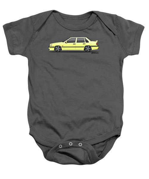 Volvo 850r 854r T5-r Creme Yellow Baby Onesie by Monkey Crisis On Mars
