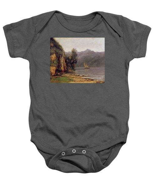 Vue Du Lac Leman Baby Onesie