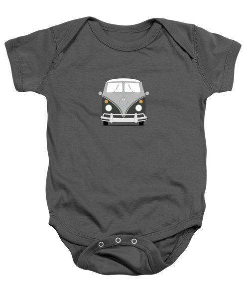 Vw Bus Grey Baby Onesie by Mark Rogan