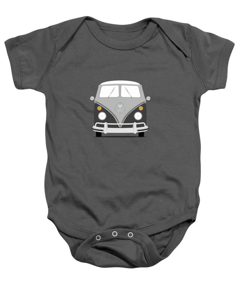 Vw Bus Grey Baby Onesie