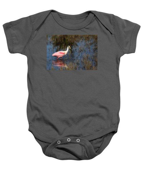 Wading Roseate Spoonbill Baby Onesie