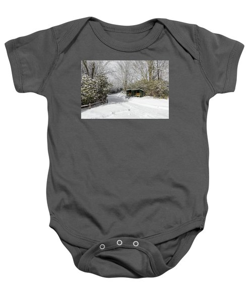Wagon Wheels And Firewood Baby Onesie