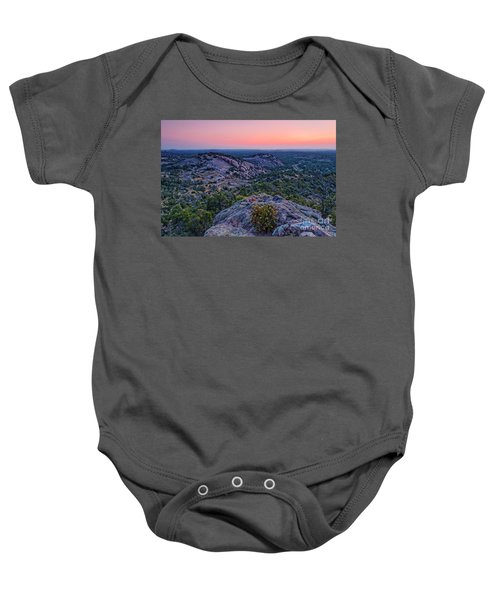 Waiting For Sunrise At Turkey Peak - Enchanted Rock Fredericksburg Texas Hill Country Baby Onesie