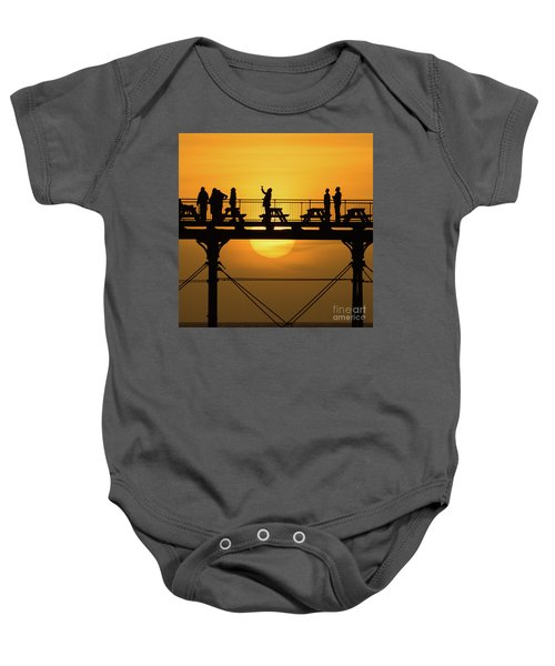 Waiting For The Sun Baby Onesie