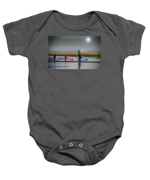 Waiting For The Surf Baby Onesie