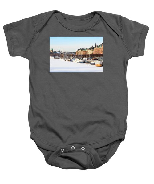 Waiting Out Winter Baby Onesie by David Chandler