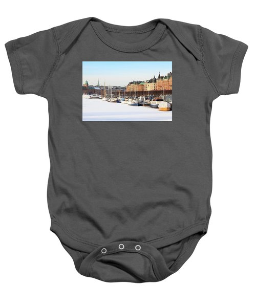 Waiting Out Winter Baby Onesie
