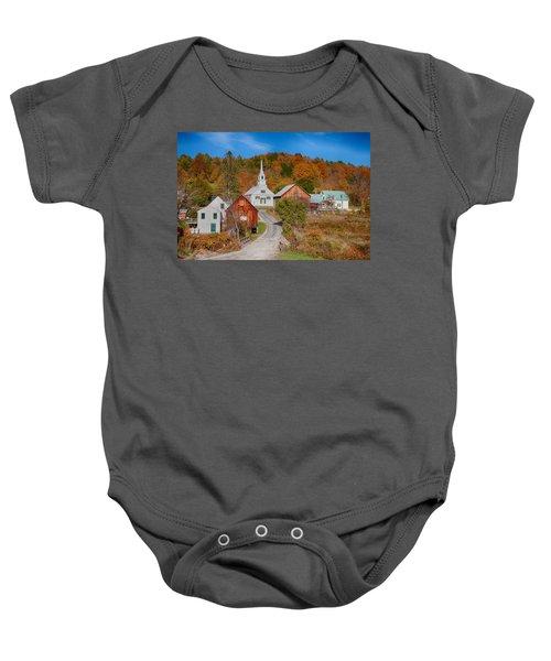 Waits River Church In Autumn Baby Onesie