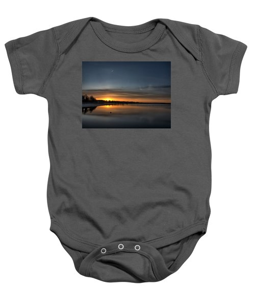 Waking To A Cold Sunrise Baby Onesie