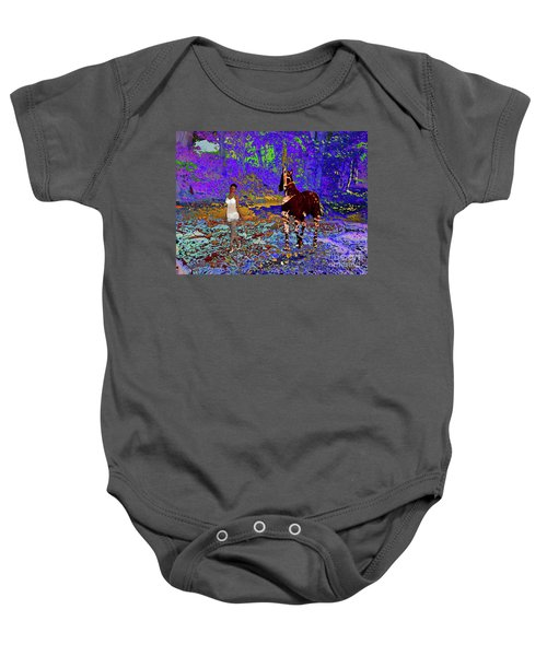 Walk The Enchanted Forest Baby Onesie