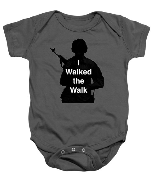 Walk The Walk Baby Onesie by Melany Sarafis