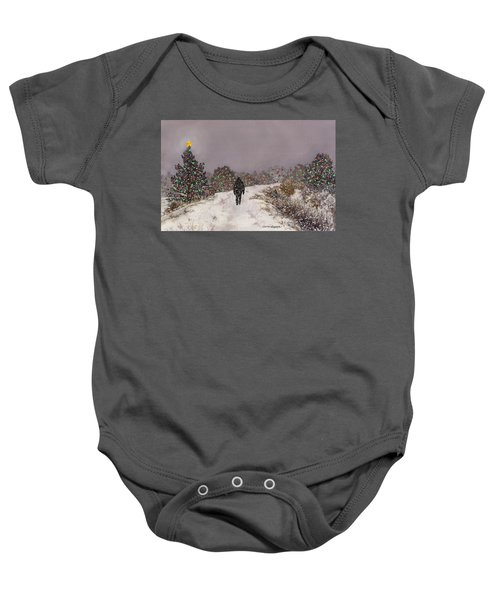 Walking Into The Light Baby Onesie