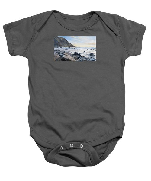 Baby Onesie featuring the painting Warren Point Sunset Duckpool by Lawrence Dyer