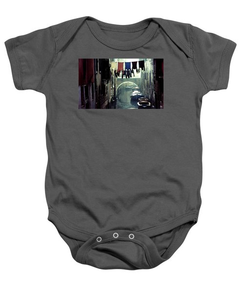 Washday In Venice Italy Baby Onesie