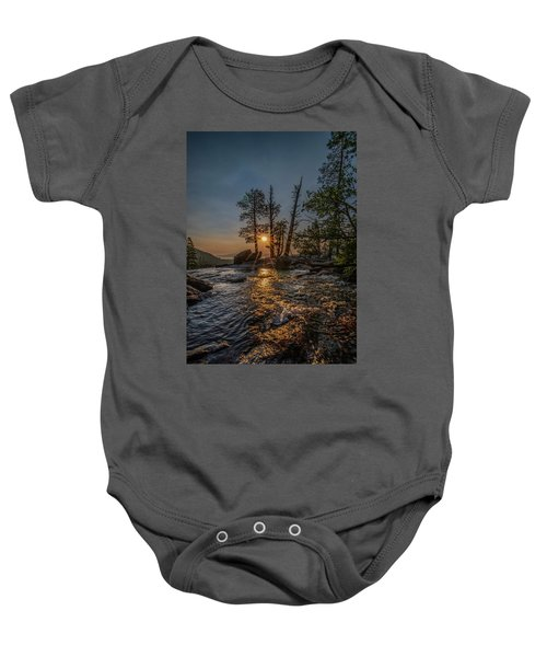 Washed With Golden Rays Baby Onesie