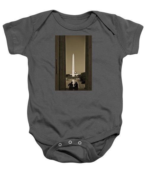 Washington Monument And Capitol #4 Baby Onesie