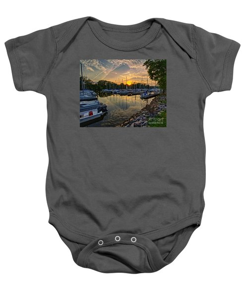 Washington Sailing Marina Baby Onesie