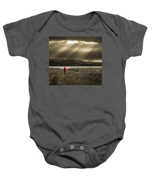 Watching In Red Baby Onesie
