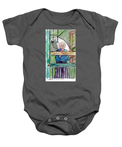Watching To See If The Kids Are Coming Baby Onesie