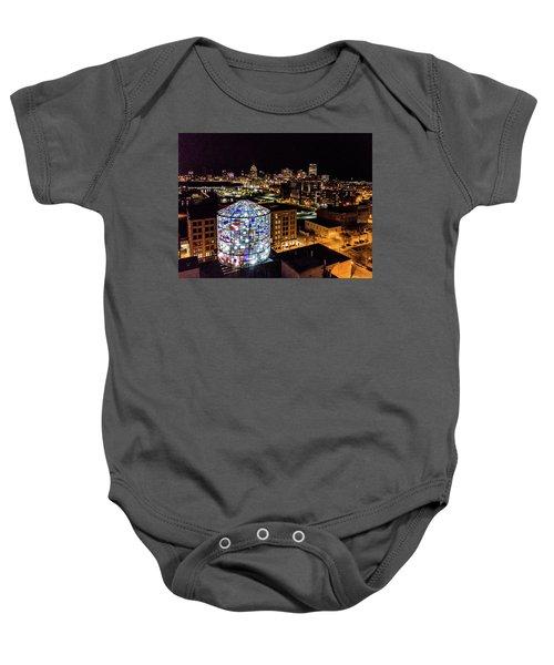 Water Tower Skyline Baby Onesie