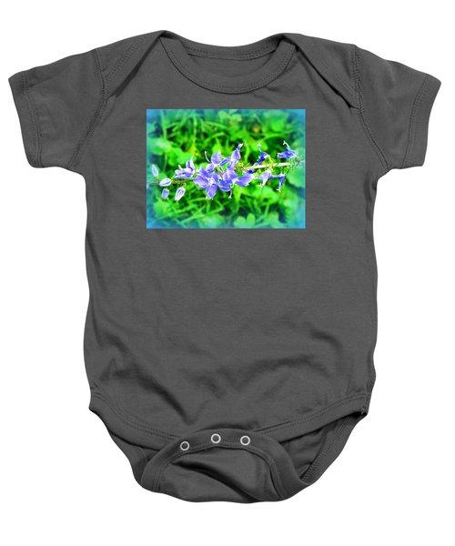 Watercolor Blooms Baby Onesie