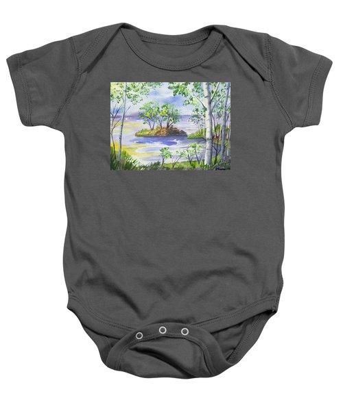 Watercolor - Minnesota North Shore Landscape Baby Onesie
