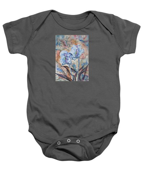 Watercolor - Orchid Impression Baby Onesie