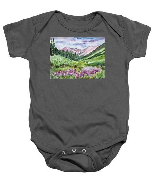 Watercolor - San Juans Mountain Landscape Baby Onesie