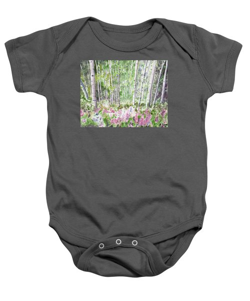 Watercolor - Summer Aspen Glade Baby Onesie