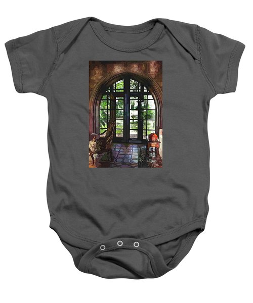 Watercolor View To The Past Baby Onesie