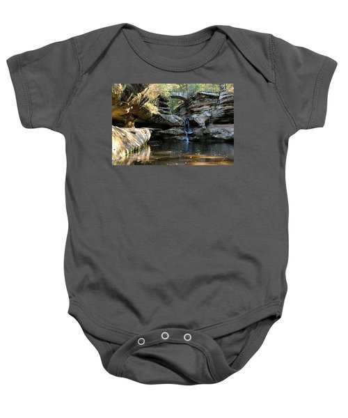 Waterfall At Old Man Cave Baby Onesie