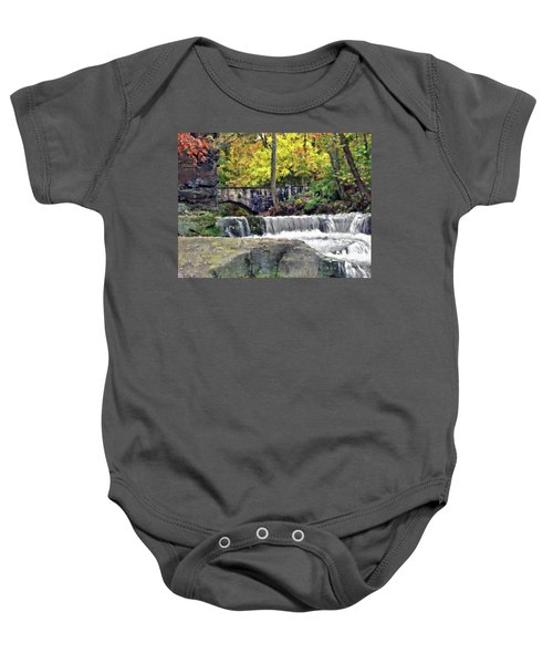Waterfall At Olmsted Falls - 1 Baby Onesie