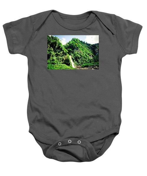 waterfall Himalayas mountains NEPAL Baby Onesie