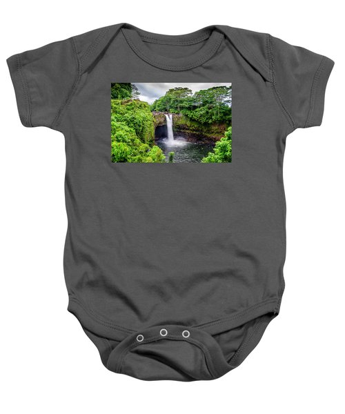 Waterfall Into The Valley Baby Onesie