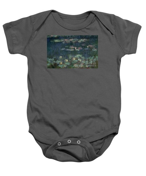 Waterlilies Green Reflections Baby Onesie