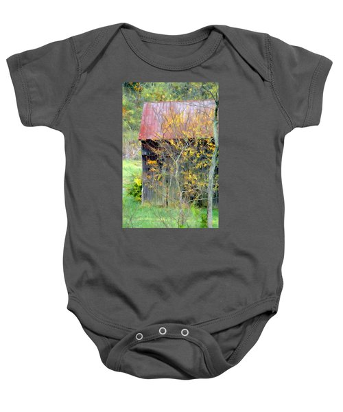 Weathered Barn 2 Baby Onesie