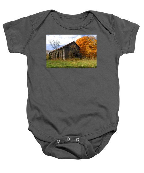 Weathered Barn 3 Baby Onesie
